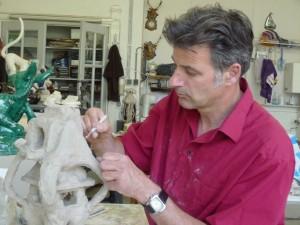 Bob Lejeune in zijn atelier